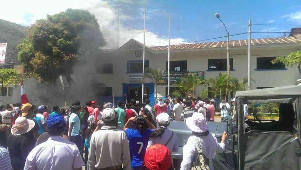 Manifestaciones por el asesinato del Alcalde Rosalio Sanchez