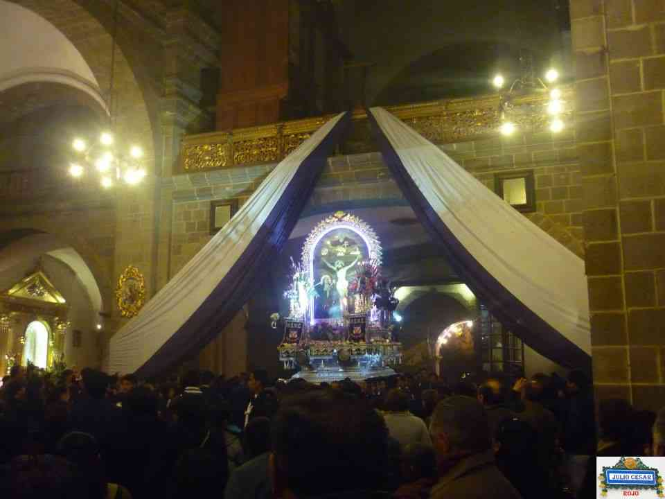 Retorno y Llegada al templo de San Francisco del Anda del Señor de los Milagros del Cusco.