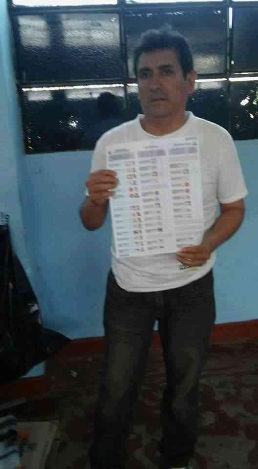 Elecciones 2016 cedula marcada a favor de keiko (1)