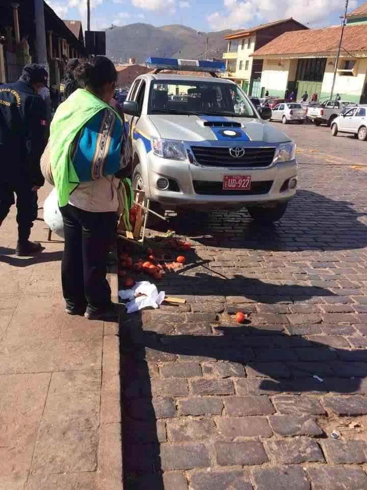 municipales agrenden vendedora en cusco 2