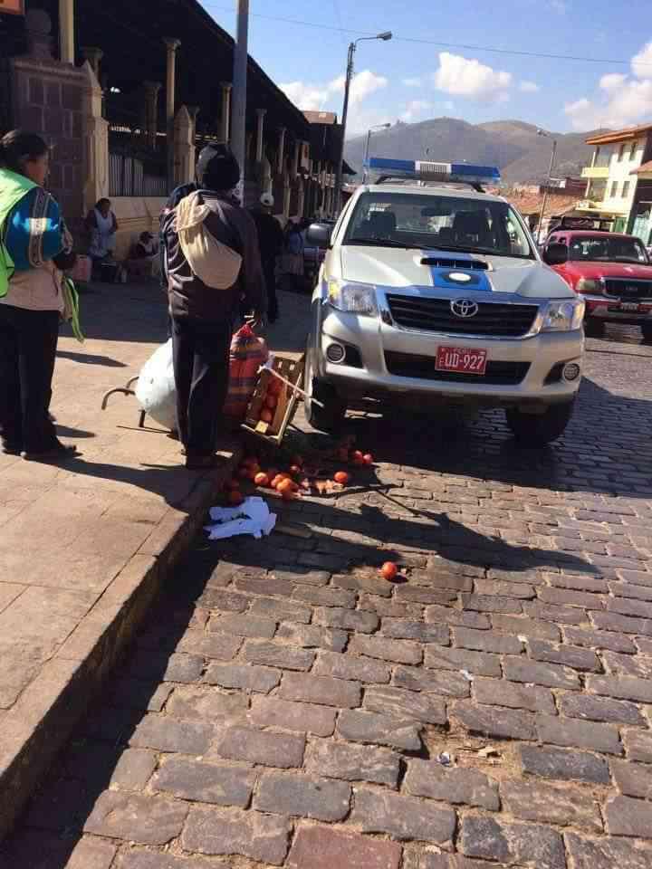 municipales agrenden vendedora en cusco
