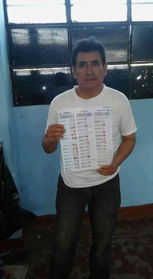 Elecciones 2016 cedula marcada a favor de keiko (3)